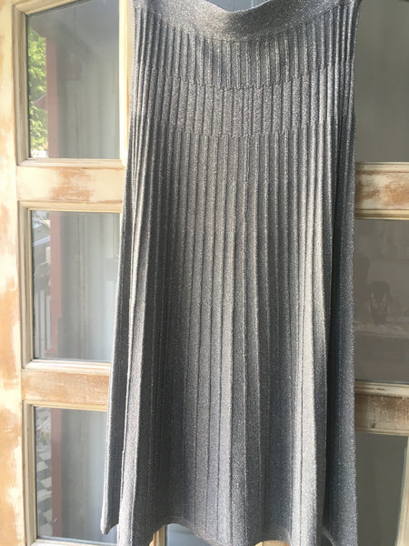Diba grey lurex knit skirt