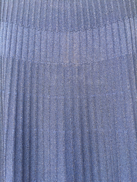 'Biba' blue lurex knit skirt