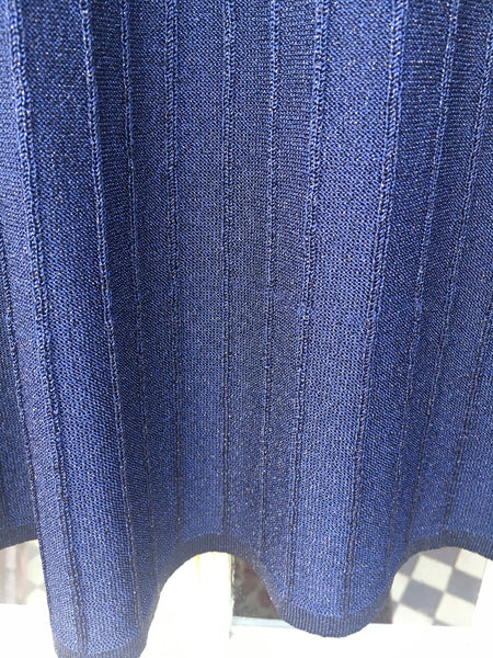 Diba blue lurex knit skirt