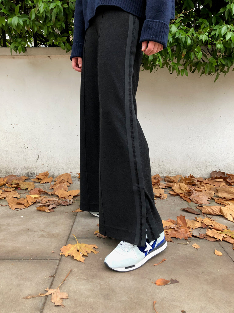 black lurex pant