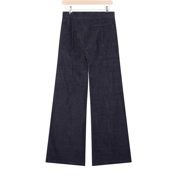 Grey corduroy flare trousers