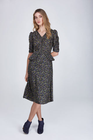 liberty botanical print dress