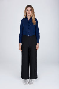 Cressida Lurex trousers glitter black melanie press collection