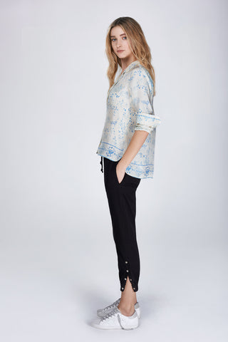 Jodie printed silk shirt