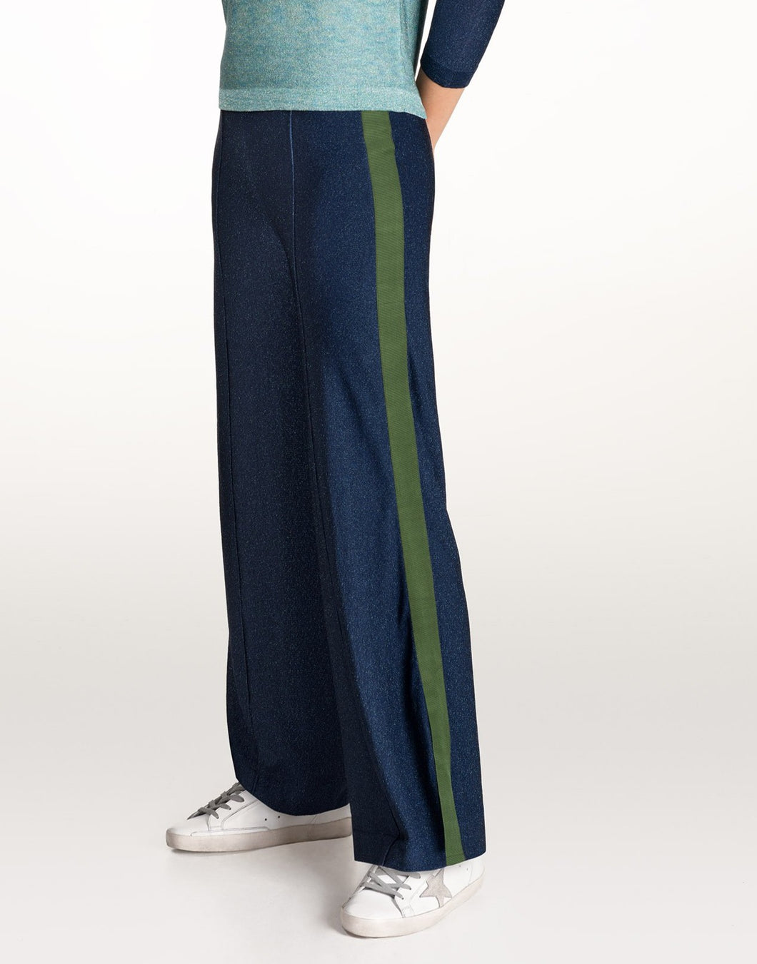 Cressida blue lurex trousers