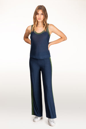 Carpi dark blue lurex tank
