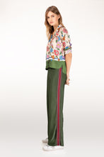 Load image into Gallery viewer, Cressida green lurex trousers