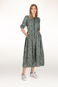 Sonnet botanical print cord dress
