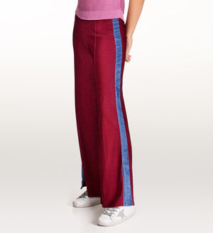 Cressida red lurex trousers
