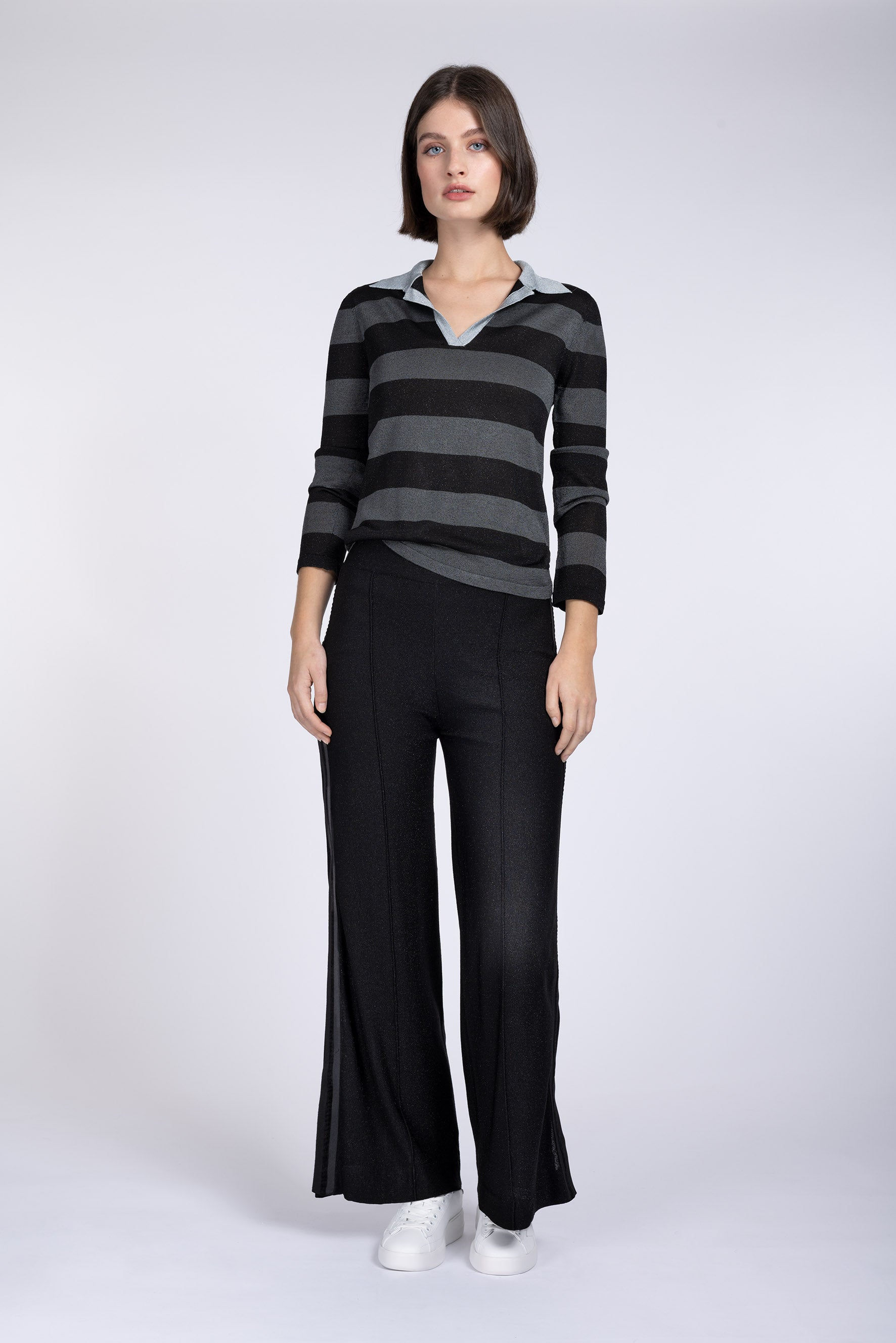 Cressida black lurex trousers - PRESS Primrose Hill