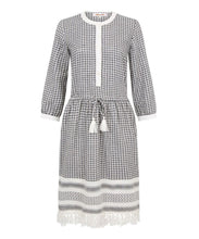 Load image into Gallery viewer, Melanie Press Sally Dress Black / White Check