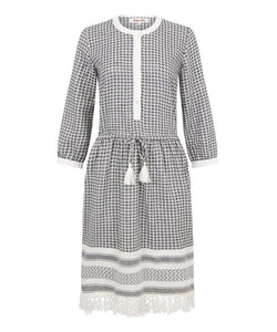 Melanie Press Sally Dress Black / White Check