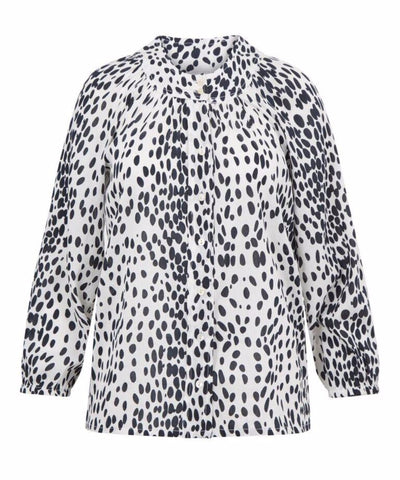 Eve Blouse - White Leopard