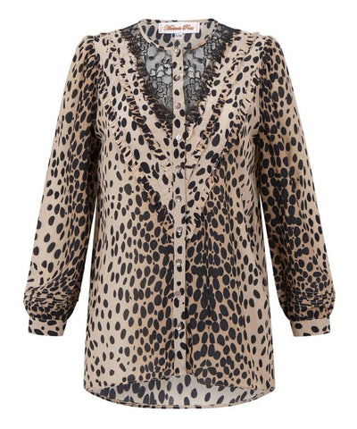 Melanie Press Doll Top in Leopard