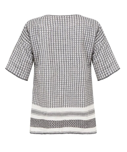 Melanie Press Kurty Tee Black and White Check