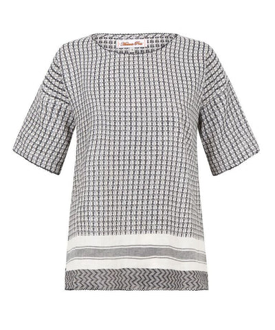 Kurty Tee - Black and White Check