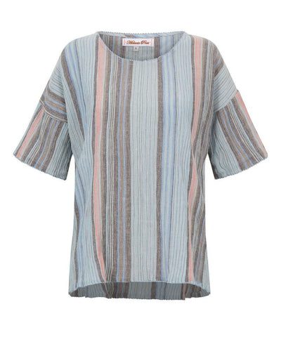 Melanie Press Kurty Tee Blue Stripe