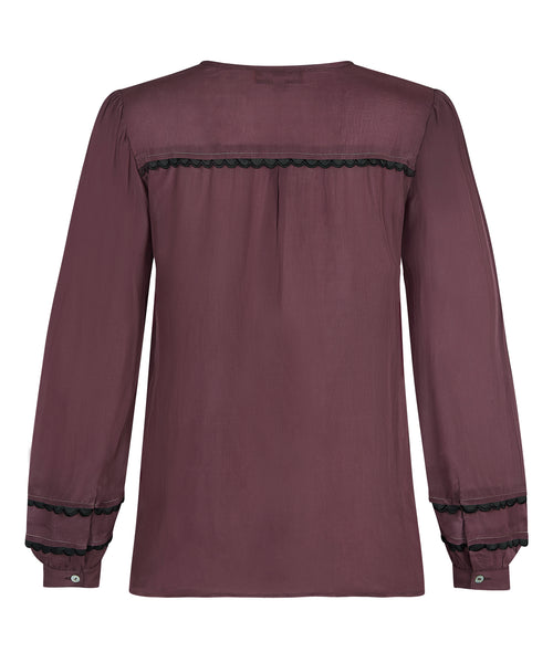 Melanie Press Delhi Top in Burgundy