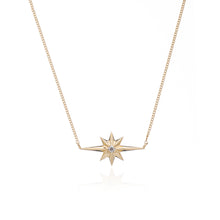 Load image into Gallery viewer, Shooting star diamond necklace