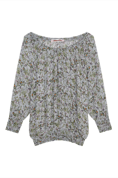 sweetie silk sweatshirt in botanical print