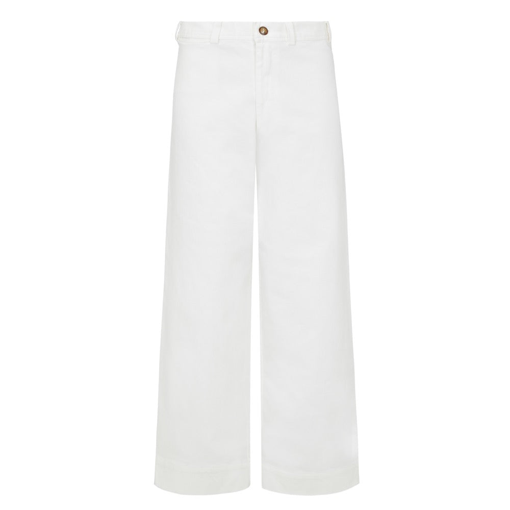 Melanie press white sailor pant trousers