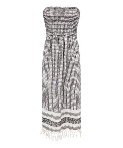 Melanie Press Sara Dress Black/White Check