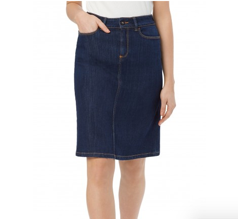 Saltspin One Button Indigo Denim Skirt