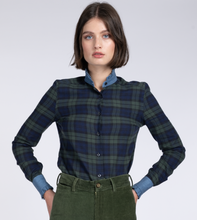 Load image into Gallery viewer, Vita blackwatch tartan piecrust shirt