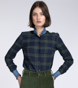 Vita blackwatch tartan piecrust shirt
