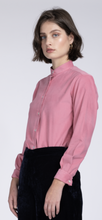 Load image into Gallery viewer, Monnalisa pink cord collarless shirt
