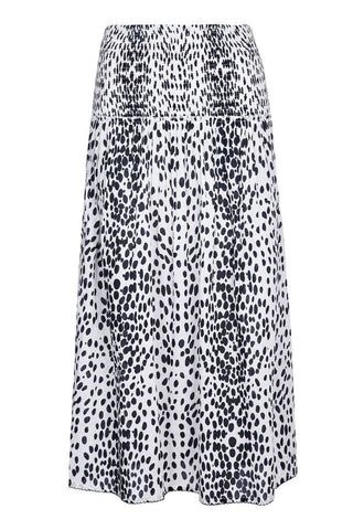 Melanie Press Sara Dress/Skirt in White Leopard