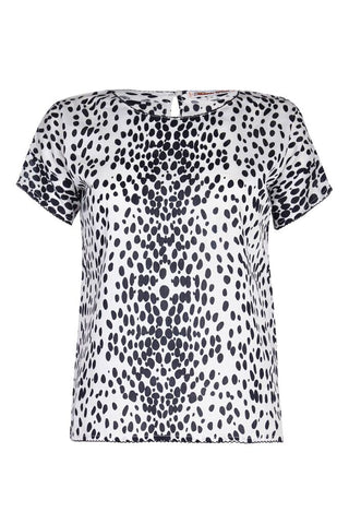 Melanie Press Katie Blouse White Leopard