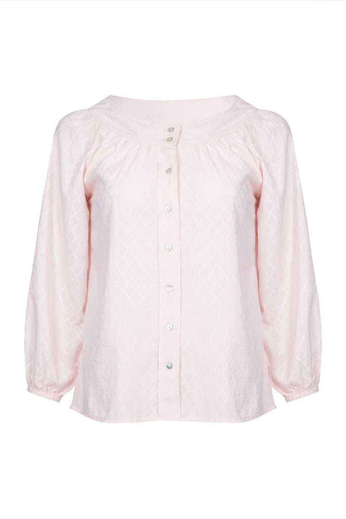 Melanie Press Eve Cotton Blouse Light Pink