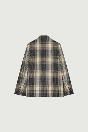 Clint grey check jacket
