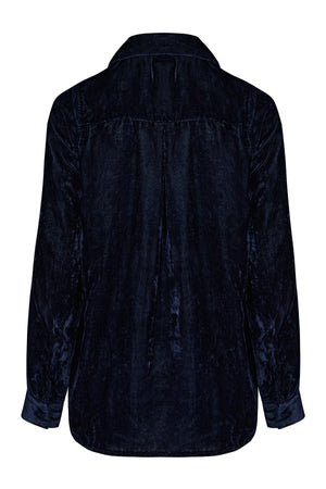 Jodie blueberry velvet shirt