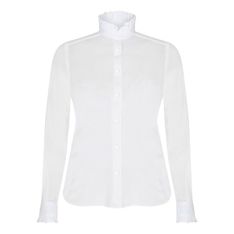 Vita Piecrust Shirt in White