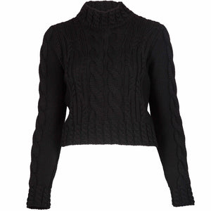 Aran crop knit black Jumper