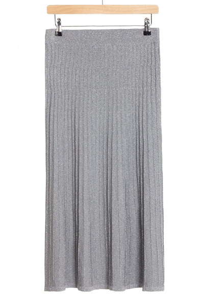 silver lurex skirt