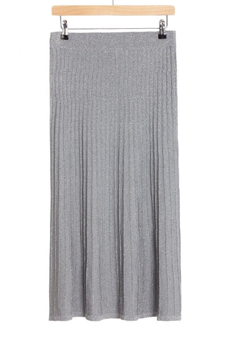 Melanie Press Diba silver lurex skirt
