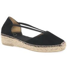 Load image into Gallery viewer, Toni Pons Erla black suede wedge espadrille on 3 cm height wedge