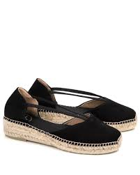 Erla Suede Espadrille in Black by Toni Pons