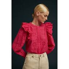 Load image into Gallery viewer, Inesa pink cotton blouse