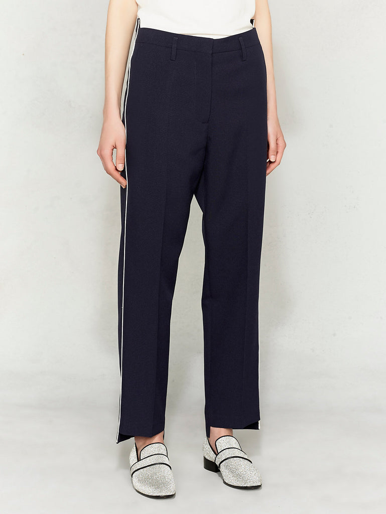 Golden Goose Trouser in Navy with White Piping