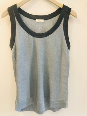 Carpi pale blue lurex tank