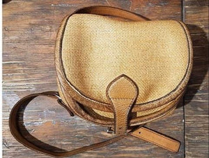 Straw messenger bag