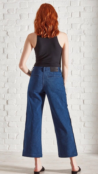 Saltspin Magnesium wide leg popper jean
