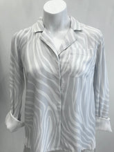Load image into Gallery viewer, Jodie grey zebra shirt