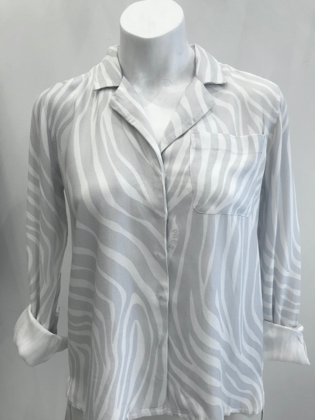 Jodie grey zebra shirt