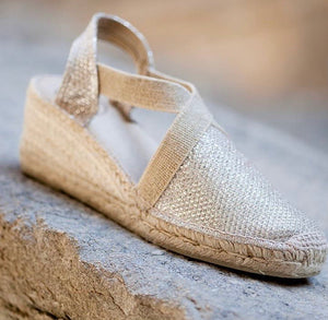 Platinum wedge espadrille - PRESS Primrose Hill