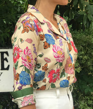 Load image into Gallery viewer, Jodie lite-floral silk shirt